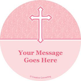 Faith Pink Personalized Stickers (Sheet of 12)