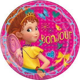 Fancy Nancy 9 Round Lunch Plates (8)