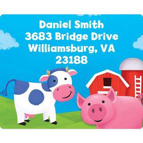 Farm Animals Personalized Address Labels (Sheet Of 15)