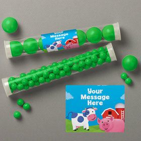 Farm Animals Personalized Candy Tubes (12 Count)