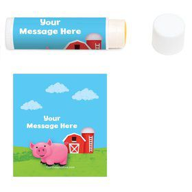 Farm Animals Personalized Lip Balm (12 Pack)