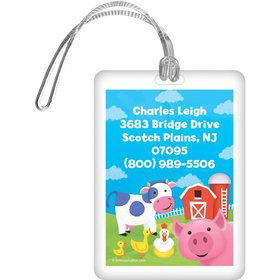Farm Animals Personalized Luggage Tag (each)