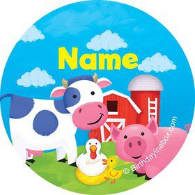 Farm Animals Personalized Mini Stickers (Sheet of 24)