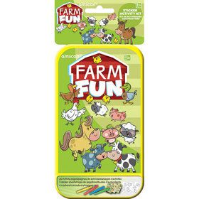 Farm Animals Sticker Activity Box