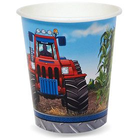 Farm Tractor 9 oz. Cups (8)