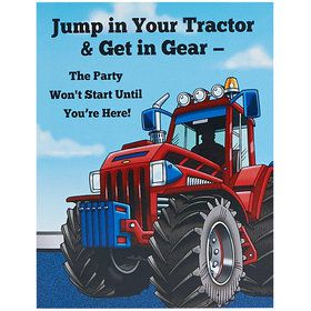 Farm Tractor Invitations