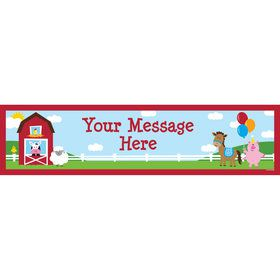 Farmhouse Fun Personalized Banner (Each)