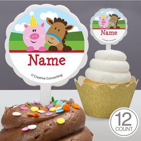 Farmhouse Fun Personalized Cupcake Picks (12 Count)