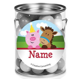 Farmhouse Fun Personalized Mini Paint Cans (12 Count)