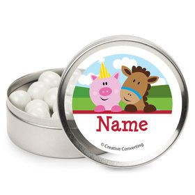 Farmhouse Fun Personalized Mint Tins (12 Pack)