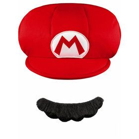Mario Child Hat And Mustache