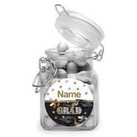 Festive Graduation Personalized Glass Apothecary Jars (10 Count)
