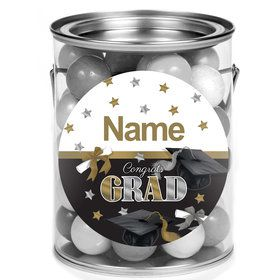 Festive Graduation Personalized Mini Paint Cans (12 Count)