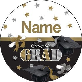 Festive Graduation Personalized Mini Stickers (Sheet of 24)