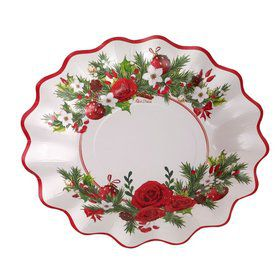"Festive Shaped 10.5"" Lunch Plate (8)"