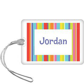 Festive Stripes Personalized Bag Tag (each)