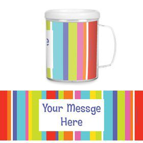 Festive Stripes Personalized Favor Mugs (Each)