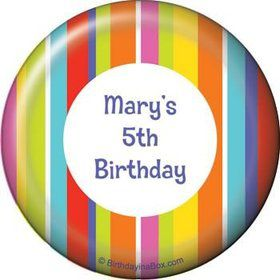 Festive Stripes Personalized Magnet (each)