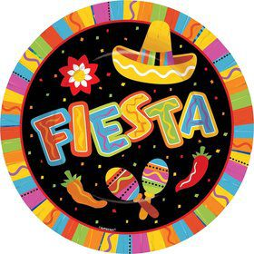 "Fiesta Fun 10.5"" Luncheon Plates (8 Pack)"