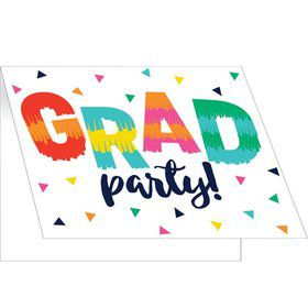 Fiesta Fun Grad Folded Invitations (8)