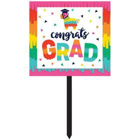Fiesta Fun Grad Yard Sign