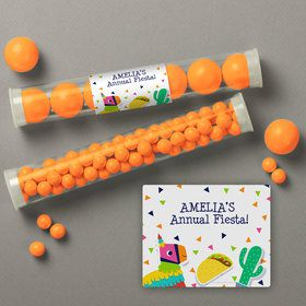 Fiesta Fun Personalized Candy Tubes (12 Count)