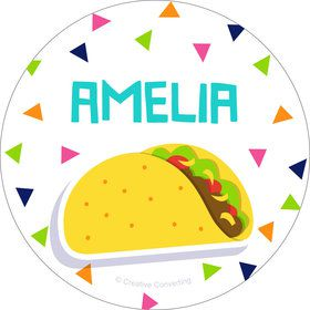 Fiesta Fun Personalized Mini Stickers (Sheet of 24)