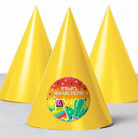 Fiesta Fun Personalized Party Hats (8 Count)