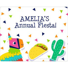 Fiesta Fun Personalized Rectangular Stickers (Sheet of 15)