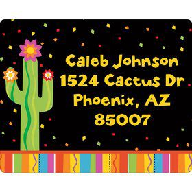 Fiesta Party Personalized Address Labels (Sheet of 15)