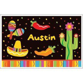 Fiesta Party Personalized Placemat (each)