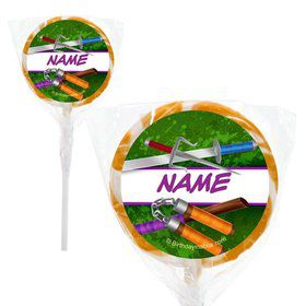 """Fighting Turtles Personalized 2"""" Lollipops (20 Pack)"""