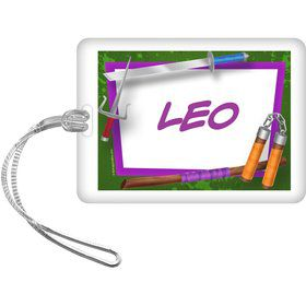 Fighting Turtles Personalized Bag Tag (Each)