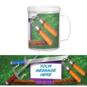 Fighting Turtles Plastic Personalized Favor Mugs (Each)