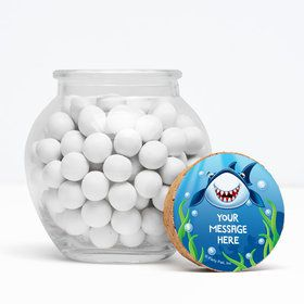 """Fin Fun Personalized 3"""" Glass Sphere Jars (Set of 12)"""