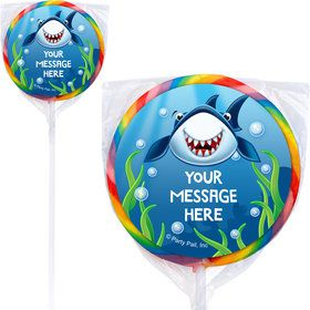 Fin Fun Personalized Lollipops (12 Pack)
