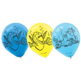"Finding Dory 12"" Latex Balloons (6 Count)"
