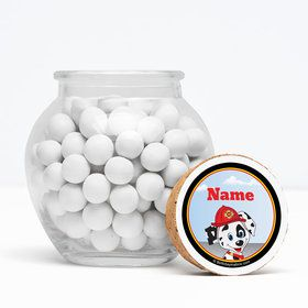 """Fire Truck Personalized 3"""" Glass Sphere Jars (Set of 12)"""