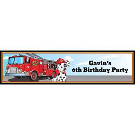 Fire Truck Personalized Banner (Each)