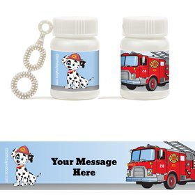 Fire Truck Personalized Bubbles (18 Pack)
