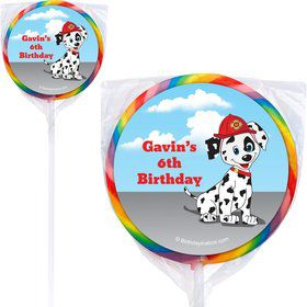 Fire Truck Personalized Lollipop (Each)