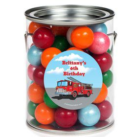 Fire Truck Personalized Paint Can Favor Container (6 Pack)