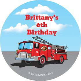 Fire Truck Personalized Stickers (Sheet of 12)