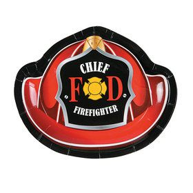 Firefighter Cake Plates (8 Pack)