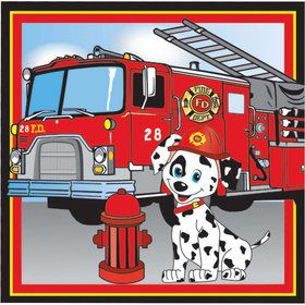 Firefighter Luncheon Napkins (16 Pack)