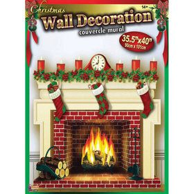 Fireplace Photo Backdrop Wall Decoration
