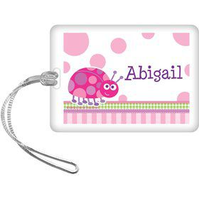 First Birthday Ladybug Personalized Bag Tag (each)