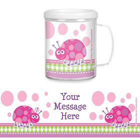First Birthday Ladybug Personalized Favor Mugs (Each)