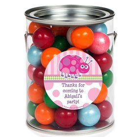 First Birthday Ladybug Personalized Paint Can Favor Container (6 Pack)
