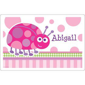 First Birthday Ladybug Personalized Placemat (each)